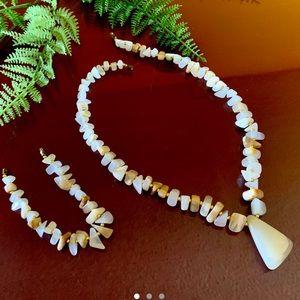 Jewelry - Onyx Natural Stone Necklace & Bracelet Set ✨